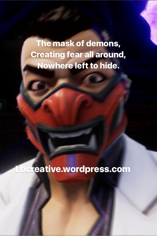 Agents of mayhem fear mask poem