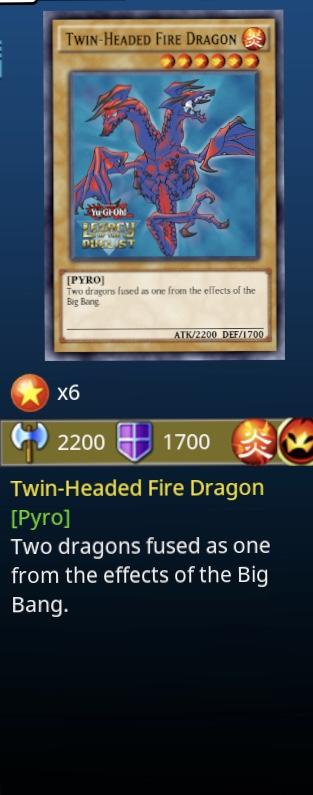 twin headed fire fragon