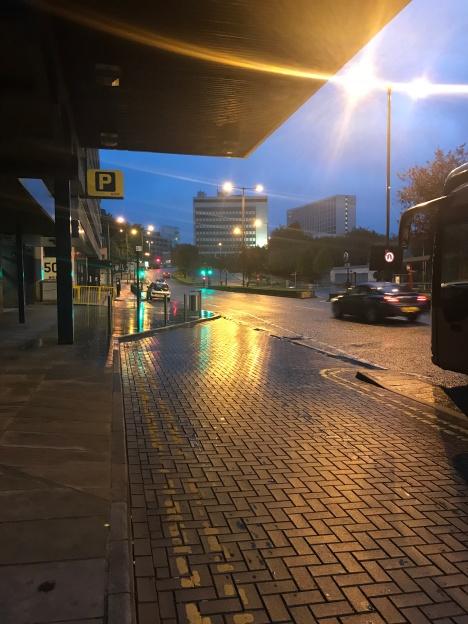 morning wet street