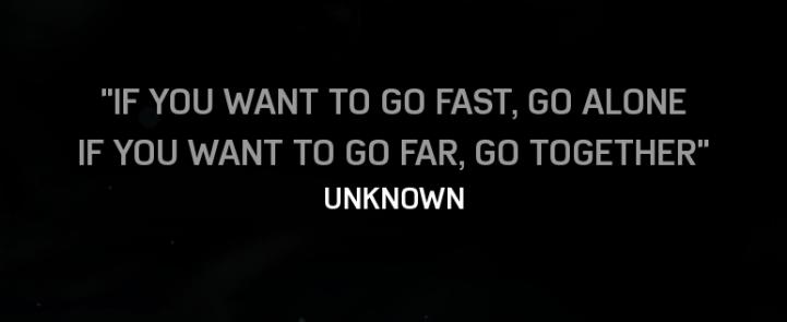 go fast go alone